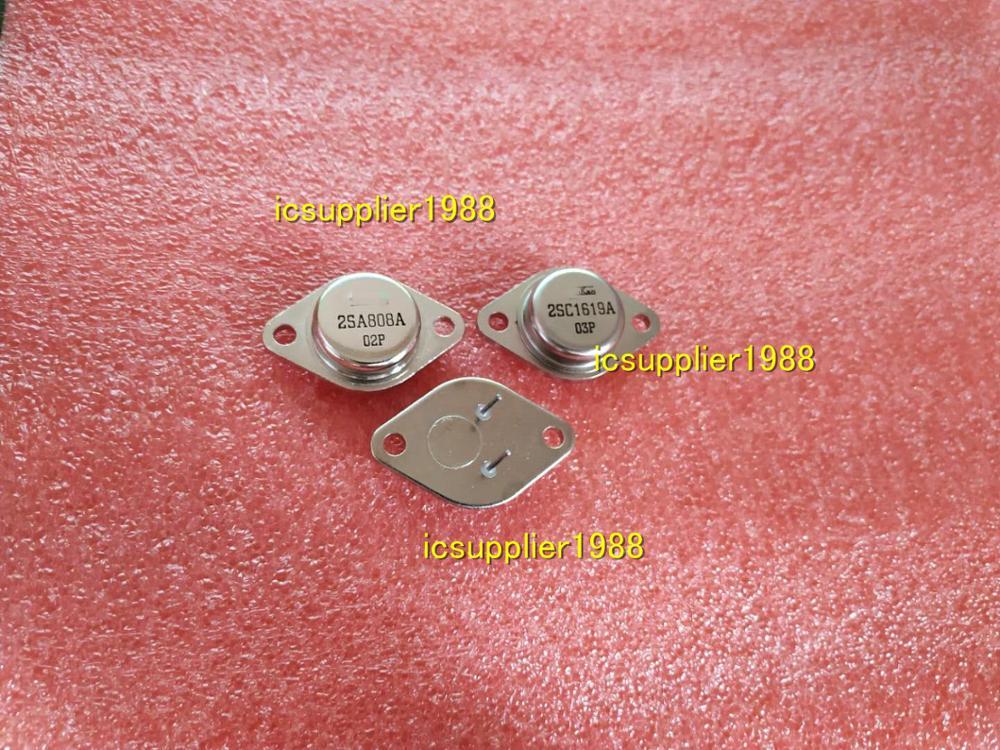 1Pair 2SA808A+2SC1619A = 1PCS OF 2SA808A + 1PCS OF 2SC1619A TO3-2Pin A808A C1619A