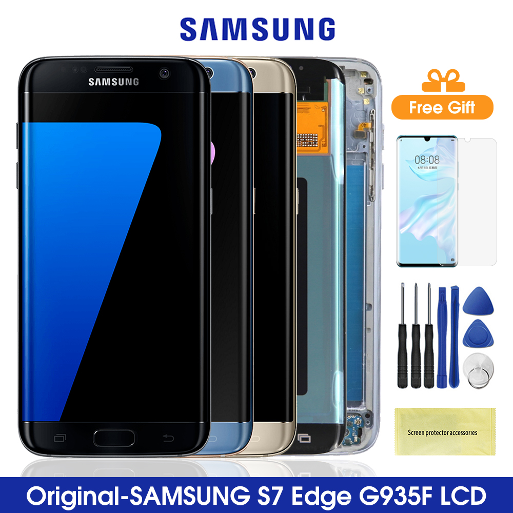 Original <font><b>S7</b></font> Edge For <font><b>SAMSUNG</b></font> <font><b>GALAXY</b></font> <font><b>S7</b></font> EDGE G935 G935F LCD <font><b>Display</b></font> Touch Screen Digitizer Assembly For <font><b>Samsung</b></font> <font><b>S7</b></font> Edge G935F image