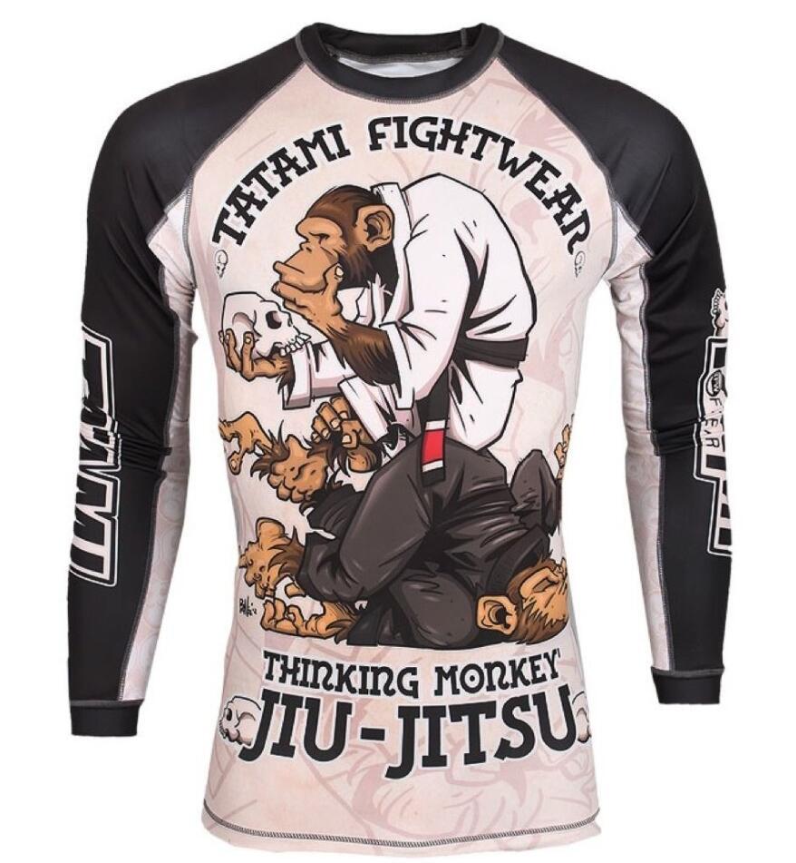 Mma macaco padrão treinamento boxe jerseys tigre muay thai jiu jitsu t camisa mma roupas rei boxe sauna terno mma compressão