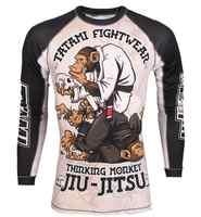 Mma wzór małpy boks treningowy koszulki tygrys muay thai jiu jitsu t shirt odzież mma king boks kombinezon do sauny mma kompresja