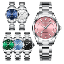 CHENXI Fashion Women Colorful Dial Reloj Mujer Concise Girl Wrist Watches Female Quartz Watches Ladies Rhinestone