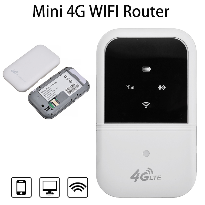 Portable Car Wireless Hotspot Mini 4G LTE Wifi Modem Router Mobile Hot Spot 150Mbps High Speed With Sim Card Slot