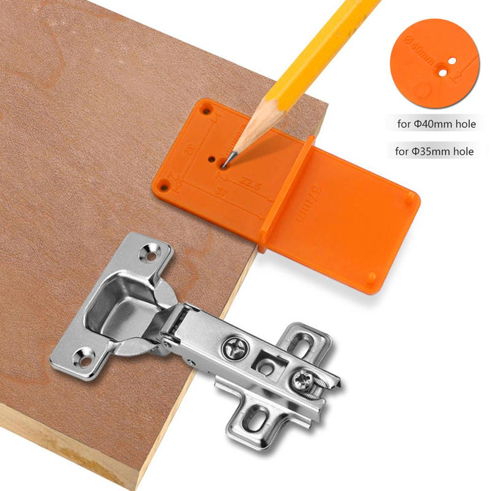 35mm 40mm Hinge Hole Drilling Hole Guide Locator Hole Opener Template Door Cabinets DIY Tool For Woodworking Tool
