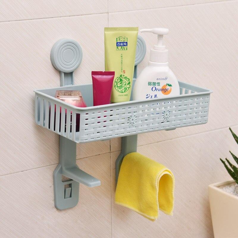 Creative Home Suction Wall Multi-functional Storage Rack Of Toilet Lollipops Adhesive Sanitary Ware Hanging Storage Rack Europea