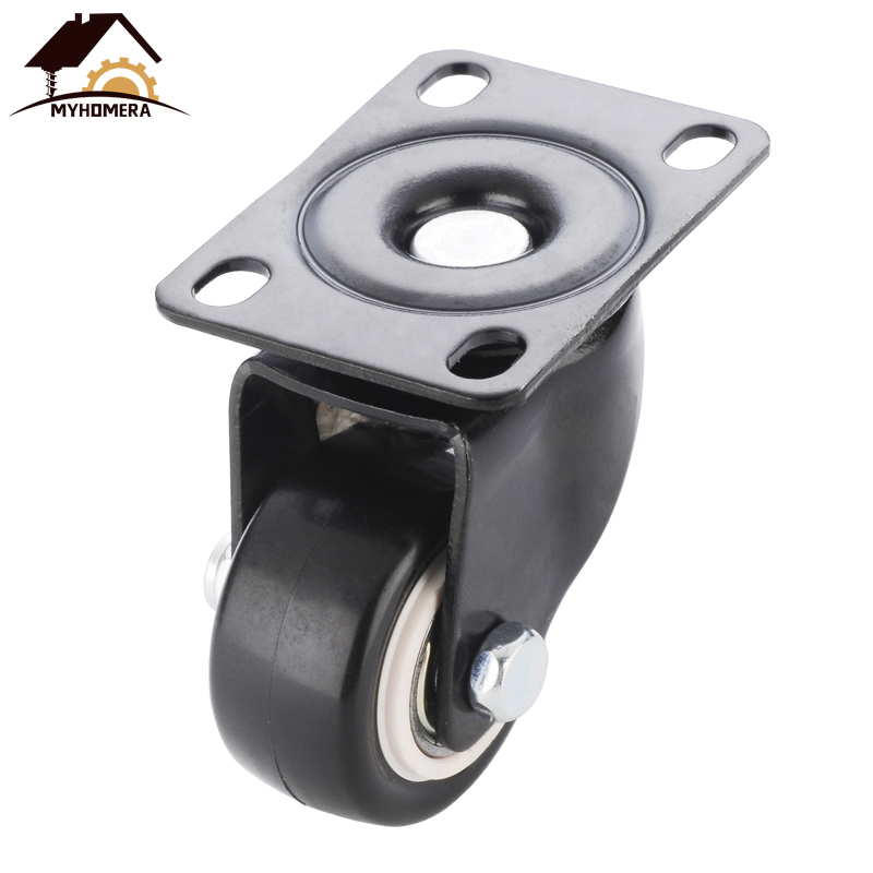 O rodízio resistente da mobília de myhomera 4 pces 200kg 1.5 polegadas 40mm 360 rodas rotatable do rodízio do giro do parafuso roda a borracha protetora do trole-4