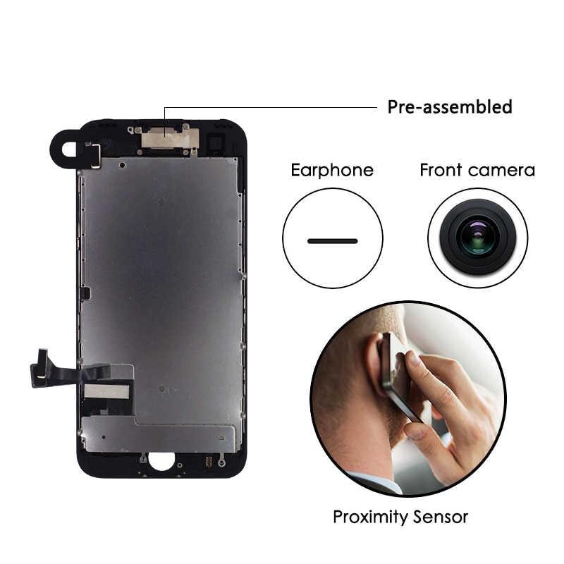 100% اختبار ل فون 7 8 زائد مجموعة كاملة شاشة الكريستال السائل التحويل الرقمي AAA جودة LCD تعمل باللمس 7 زائد 8 زائد 7P 8 P أسود أبيض