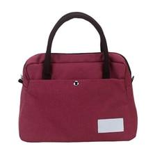лучшая цена Casual Women Oxford Shoulder Bag Simple Female Solid Color Handbag Soft Medium Size Messenger Bag for Ladies Food Picnic Bags