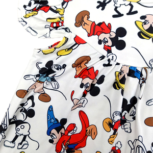 Image 5 - Весна лето 2020, новый дизайн, жемчужное платье для маленьких девочек, милая одежда с принтом Микки, повседневные платья из молочного шелка для малышей, оптовая продажа