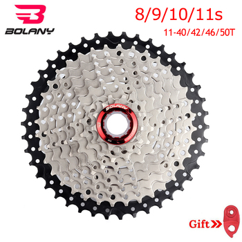 BOLANY cassette 8/9/10/11 speed MTB Bike Cassette 11-40/42/46/50T Mountain Bike Parts Sprocket Derailleur Fit Shimano/SRAM image