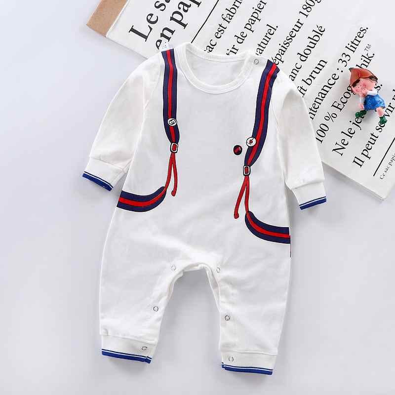 2019 г. Осенняя одежда для малышей детские комбинезоны, хлопковые комбинезоны с длинными рукавами для мальчиков и девочек, Детский комбинезон с рисунком, одежда для младенца