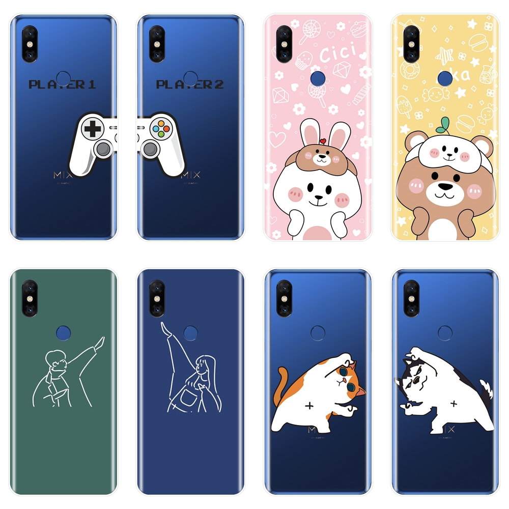 TPU Soft Silicone Phone Case For Xiaomi Mi Max 1 2 3 Couple Best Friend Cat Dog Back Cover For Xiaomi Mi Note Mix 1 2 2S 3 image