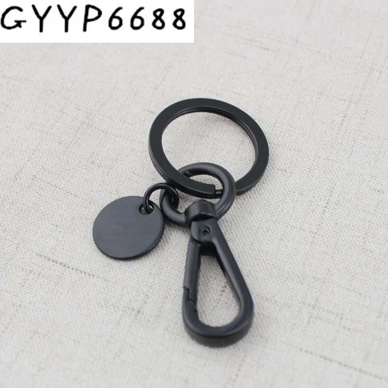 2pcs 50pcs 13mm Hardware Hardware Accessories Dark Gun Black Trigger Snap Hook Swivel Clasp Lobster Claws Swivel Hooks Key Ring