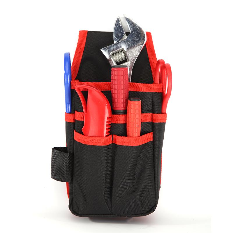 Multi-function Polyester Toolkit Screwdriver Drill Hardware Parts Storage Tool Bag Waist Pack Tools Packaging Supplies