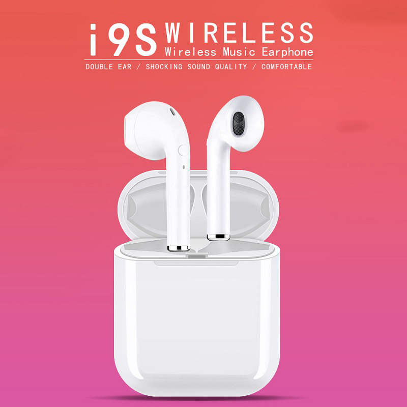 Wireless Headset Bluetooth Earphones <font><b>i9s</b></font> <font><b>tws</b></font> pk i12 <font><b>tws</b></font> Handsfree Earbud for Xiaomi apple with Charging <font><b>pod</b></font> Gaming on <font><b>air</b></font> plane image