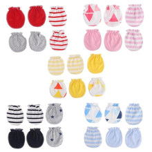 New Cotton Baby Mittens Gloves Super Soft Newborn Boy Girl Safety Scratch Mittens Size 0-6 Months 3 Pairs/Pack Baby Gloves(China)