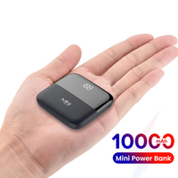 10000mAh Mini Power Bank LED Power Display PoverBank caricabatterie esterno portatile Powerbank per iPhone 12 Xiaomi 10