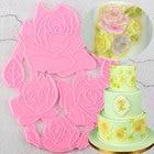 Rose Flower Cake Bor...