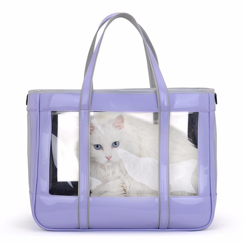 ใหม่โปร่งใสกระเป๋าถือแมวกระเป๋ากระเป๋าสัตว์เลี้ยง Out พกพากรงไหล่ Pet Space Capsule Crate Pet Supplies