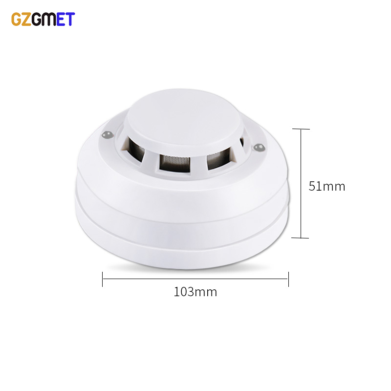 Image 2 - GZGMET 12V DC Smoke Detector Photoelectric Home Alarm Sensor Fire Security Detector for Wired Alarm System-in Smoke Detector from Security & Protection