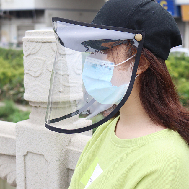 Women Men Outdoor Anti-Spitting Anti-saliva Protective Hat Removable Safety Face Shield Visors cap Anti-Fog Dust Cycling hat 3
