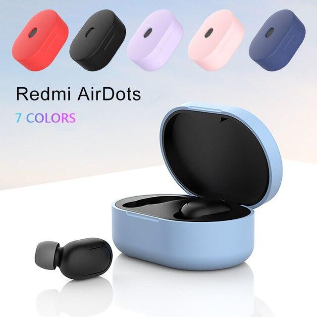 Silikon yumuşak koruyucu darbeye dayanıklı Bluetooth kulaklık durumda Xiaomi Redmi için Airdots Tws hava nokta kablosuz kulaklık kulak telefonu