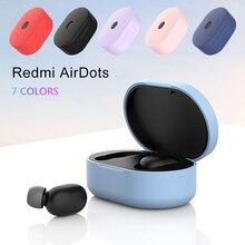 Ốp Mềm Mại Bảo Vệ Chống Sốc Bluetooth Ốp Lưng Cho Xiaomi Redmi Airdots Tws Không Chấm Bi Tai Nghe Không Dây Tai Nghe Điện Thoại