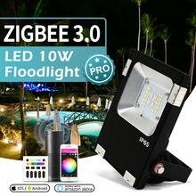 Прожектор gledopto 10 Вт smart zigbee 30 rgbcct pro лм уличное