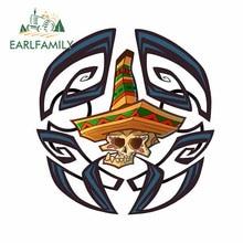 Earlfamily 13cm x 13c para cópia do mexicano mustage crânio adesivos de carro vinil scratch-proof pára-brisa tronco decalque para jdm