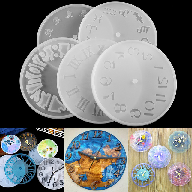 1pcs Arabic Numerals Clock Silicone Mold Handmade Crafts Clock Epoxy Resin Molds For DIY Jewelry Making Finding Tools Supplies
