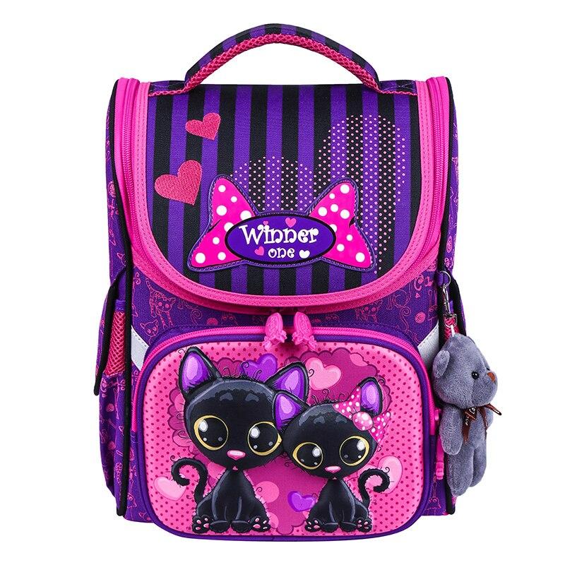 Girls School Backpacks Children School Bags For Boys Orthopedic Backpack Cute Cat Bear SchoolBag Kids Satchel Knapsack Mochila