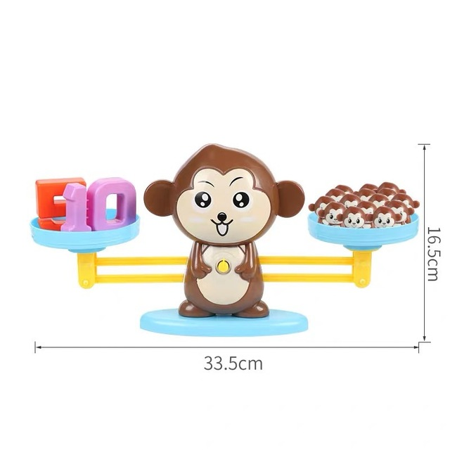 Kids Montessori Math Toy Kindergarten Educational Toys Monkey Puppy Number Balance Game Baby Learning Toys 5