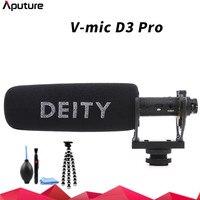 Aputure Deity V Mic D3 Pro Video Studio Microphone Super cardioid Polar Pattern Vlogging Condenser Recording Microfone for DSLR