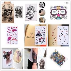 1PCS Waterproof Temporary Tattoo Sticker Crow Tiger Ganesha Wolf Forest Tatto Stickers Flash Tatoo Fake Tattoos For Women Men