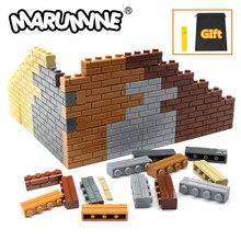 Marumine Stad Deel 1X4 Dots Bricks 15533 Huizen Muur Bouwstenen Compatibel Leren Classic Diy Moc Educatief Speelgoed set