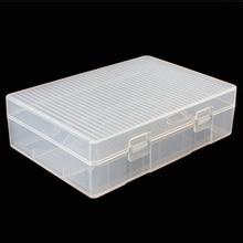1 Pc נייד קשה פלסטיק מקרה מחזיק תיבת אחסון עם וו עמיד שקוף אחסון תיבת Fit עבור 4x26650 סוללות