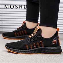 Men Shoes Sneakers Vulcanized-Shoes Footwear Tenis Male Black Mesh Lightweight Masculino