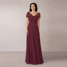 Graceful New Arrival Burgundy Chiffon Lace Mother of the Bride
