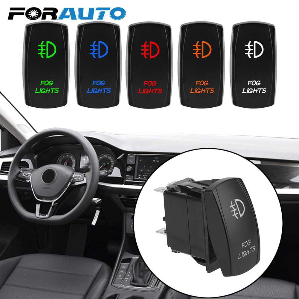 Para auto Car Dashboard Button Connector 5 Pin iluminado ON-OFF LED Rocker Switch antiniebla luz interruptor automóvil modificación