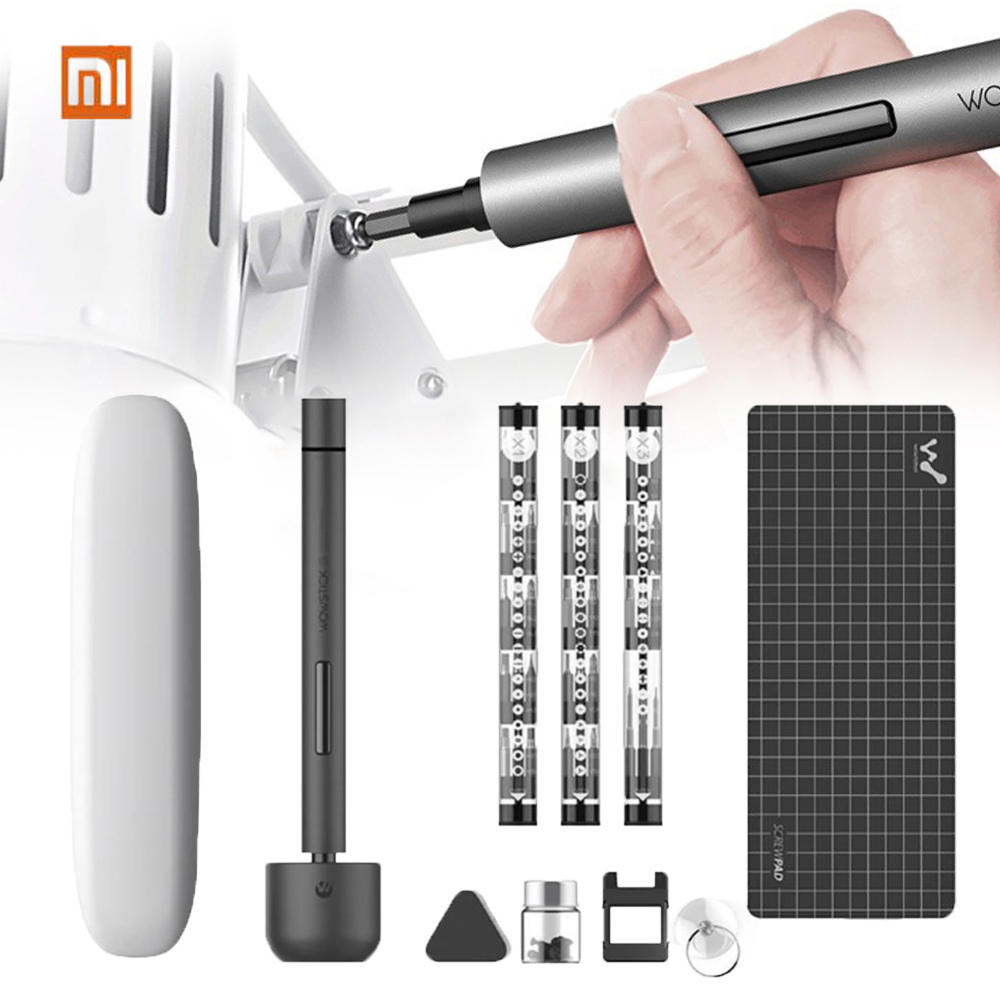 Original XIAOMI Mijia Mini Wowstick Electric Screw Mi Driver Cordless Lithium-ion Charge Power Screw Mijia Driver Kit