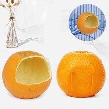 Кормушка для птиц в форме апельсина, контейнер для еды для попугаев, хомяков, подвесная миска для клетки