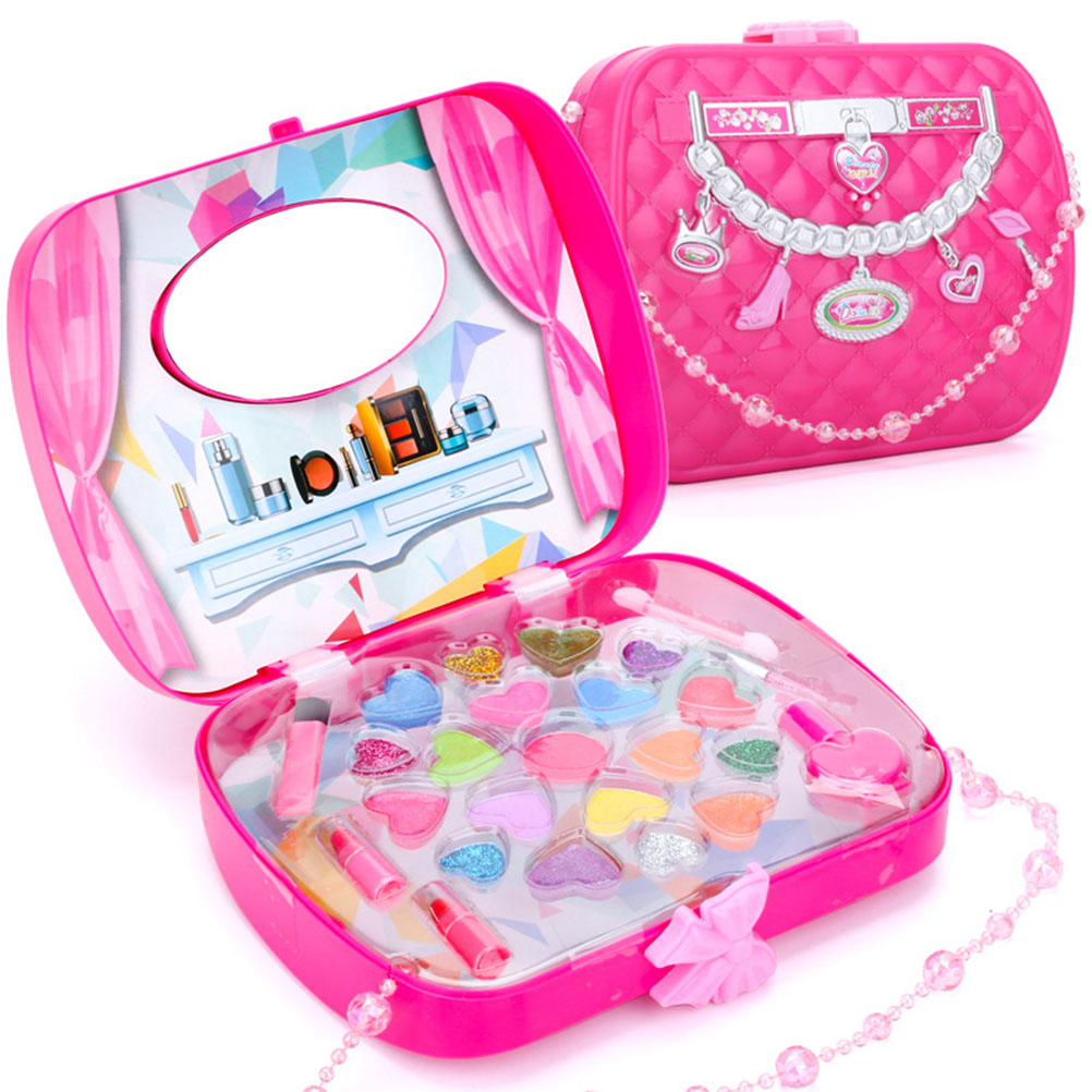Baby Girls Make Up Set Toys Pretend Play Cosmetic Bag Beauty Hair Salon Toy Makeup Tools Kit Children Pretend Play Toys #20