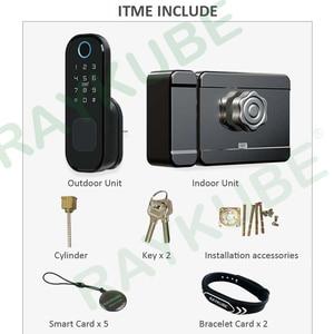 Image 5 - Elektronische Deurslot Fingeprint/Code/Wachtwoord/Bluetooth Tt Lock App Met Gateway Wifi Bluetooth Keyless Entry T03