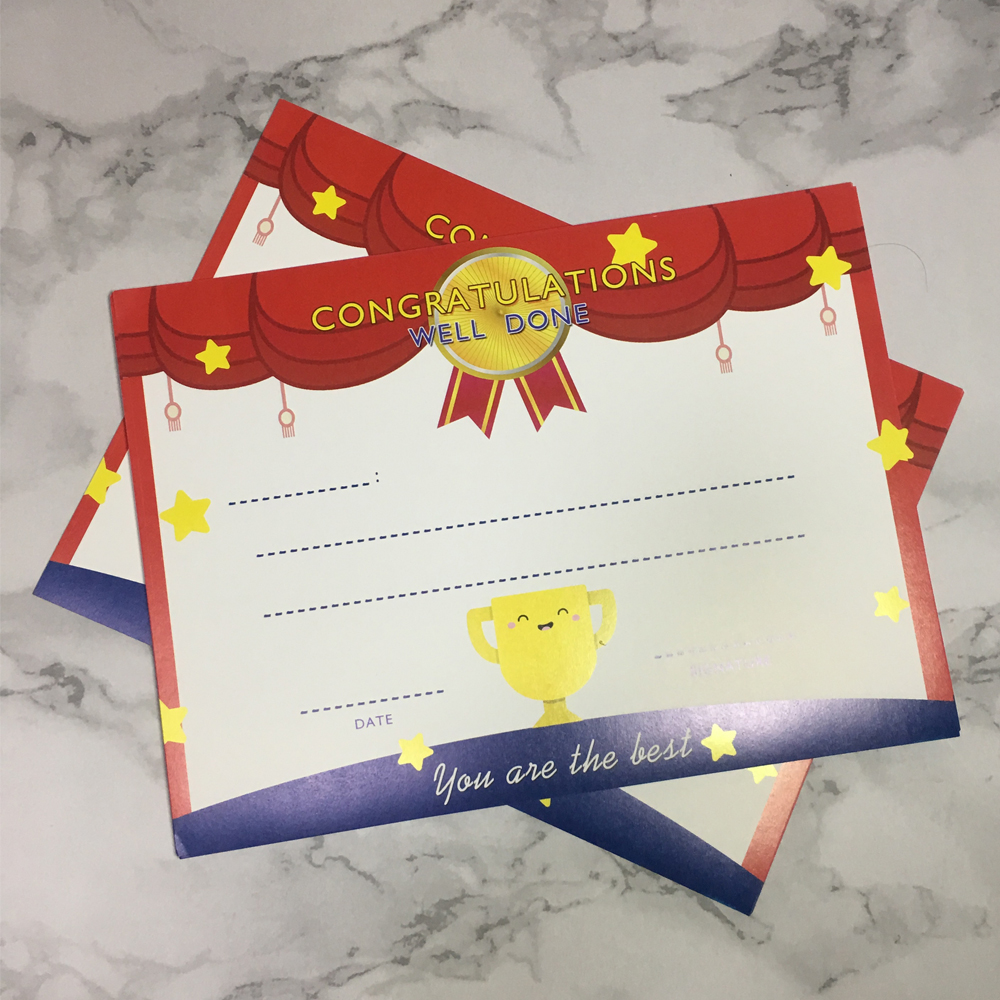 20pcs High Quality Certificate English Commendation Letters Teaching Supplies Student Awards Training Certificate Paper