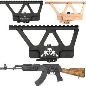 Despegador rápido AK Gun soporte sobre riel para Mira Base Picatinny montaje de riel lateral para AK 47 AK 74 negro Tan riflescope pistola accesorios parte