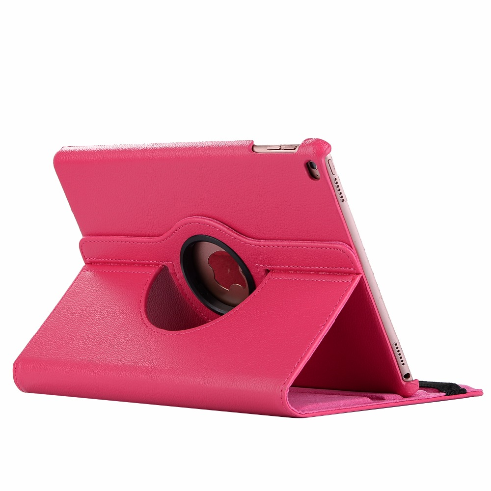 Rose Red Gold 360 Degree Rotating PU Leather Flip Cover Case For iPad 10 2 2020 2019 8th 7th