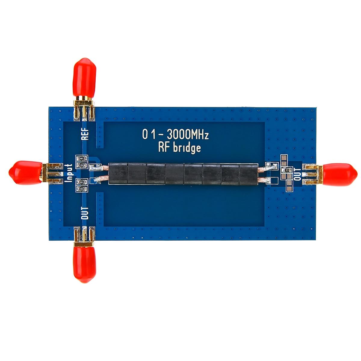 New RF SWR Reflection Bridge 0.1-3000 MHZ Antenna Analyzer VHF VSWR Return Loss 45x90mm
