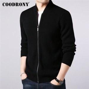 Image 2 - Coodrony casaco masculino de marca, roupas masculinas, outono inverno, grosso, com zíper, casacos de lã de caxemira 2019
