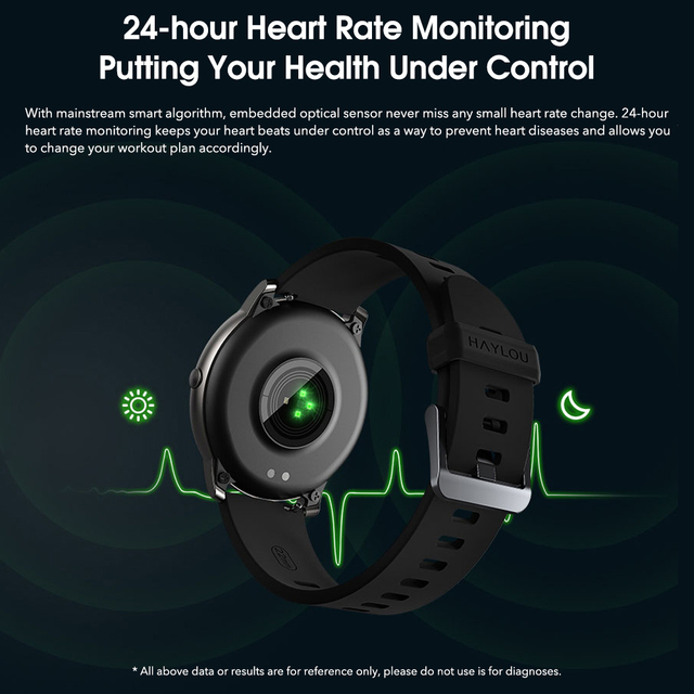 Haylou-reloj inteligente Solar IP68, reloj inteligente resistente al agua para Android e iOS, Haylou LS05 2