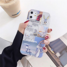 Cartoon Transparent iPhone 11 11Pro Max For iPhone X XR XS Max 7 8 Plus Bugs Bunny Phone Case SF
