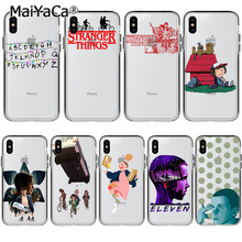 MaiYaCa Stranger Things Soft TPU silicone On Sale Luxury Cool Phone Case  for Apple iPhone 8 7 6 6S Plus X XS max 5 5S SE XR